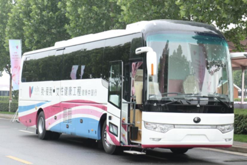 """12辆""""健康巴士""""计划走遍中国 呼吁关爱女性乳腺健康"""